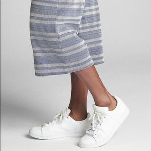 GAP Pants - GAP Ribbed Stripe Crop Wide-Leg Pant